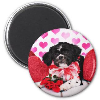 Valentines - Shih Tzu - Sadie Refrigerator Magnet