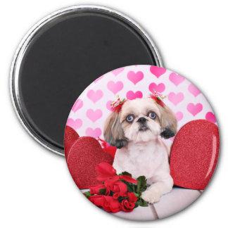 Valentines - Shih Tzu - Sophie Refrigerator Magnets