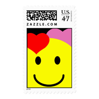 'VALENTINES '   SMILEY FACE POSTAGE