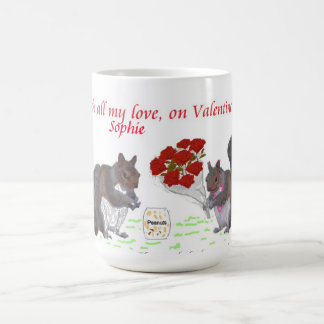 Valentine's Squirrel Couple.Change name Coffee Mug