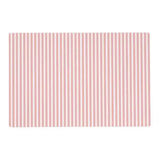 Valentines Stripes in Blush Pink and White Placemat