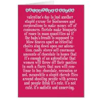 Valentine's Sucks Greeting Card