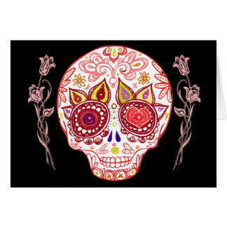 Valentines Sugar Skull Love Card