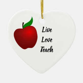 Valentines Teacher Ornament Gift