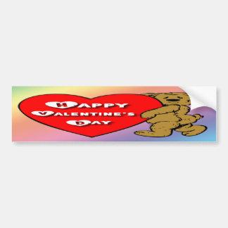 Valentine's Teddy Bear Bumper Sticker