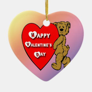 Valentine's Teddy Bear Ornament