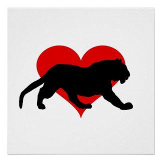 Valentine's tiger poster