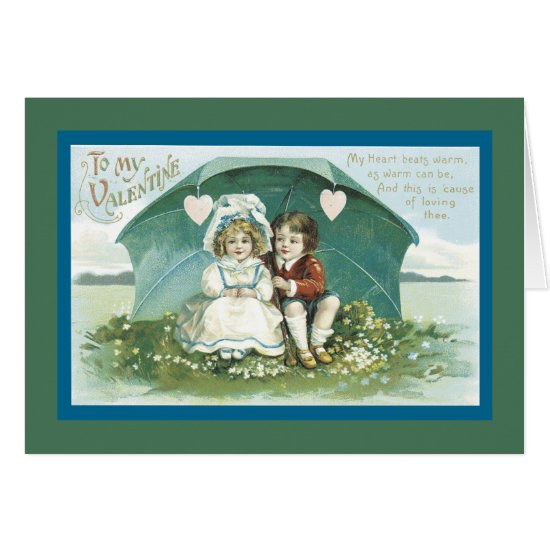 Valentines Under an Umbrella Card
