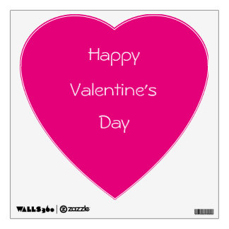 Valentine's wall decal