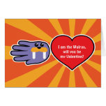 Hand shaped Valentine's Walrus Love card