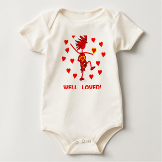 Valentines Well Loved Baby Bodysuit