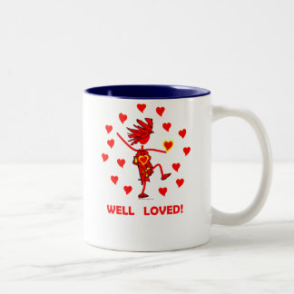 Valentines Well Loved Two-Tone Coffee Mug