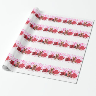 Valentines - Yorkie - Pixie Wrapping Paper