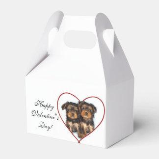Valentine's Yorkshire terrier dog favor box