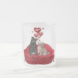 Valentines - You Had Me at Woof! 10 Oz Frosted Glass Coffee Mug