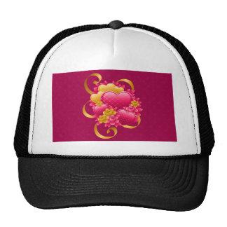 ValentinesDay Pink hearts Trucker Hat