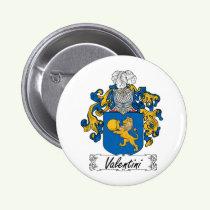 Valentini Family Crest Button
