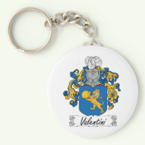 Valentini Family Crest Keychain