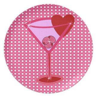 Valentini Heart Martini plate