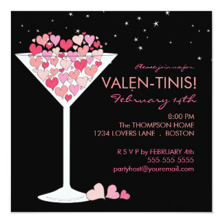 Valentini Martini Valentines Day Party Invitation