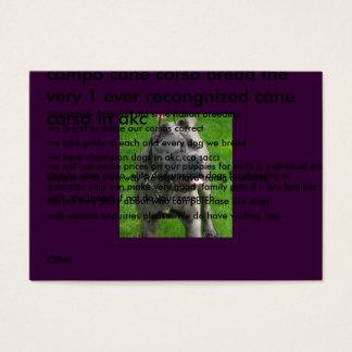 Valentino-Cirino_019-1, campo cane corso bread ... Business Card