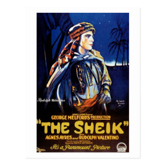 "Valentino in ""The Sheik"" Postcard"