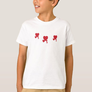 Valentin's Day Hearts T-Shirt Girl's