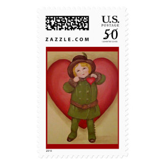 Valentive Stamp, here's my heart Postage