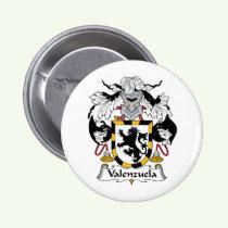 Valenzuela Family Crest Button