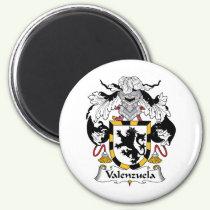 Valenzuela Family Crest Magnet