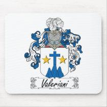 Valeriani Family Crest Mousepad