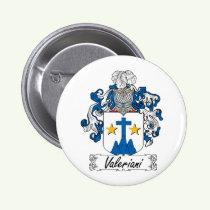 Valeriani Family Crest Button