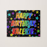 """[ Thumbnail: """"Valerie"""" First Name, Fun """"Happy Birthday"""" Jigsaw Puzzle ]"""