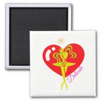 Valerina Heart Delicate Tote Magnet
