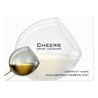 Vales de la bebida de la barra, del restaurante o tarjetas de visita grandes