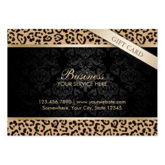 Vales de lujo del estampado leopardo y del damasco tarjetas de visita grandes