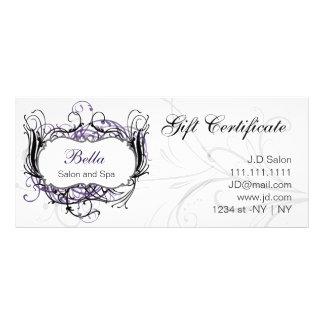 vales elegantes púrpuras, blancos y negros lona personalizada