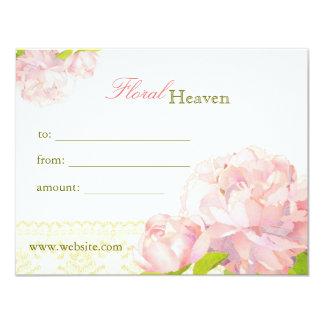 """Vales florales elegantes del negocio invitación 4.25"""" x 5.5"""""""