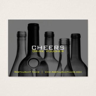 Vales y cupones de la bebida de la barra y del