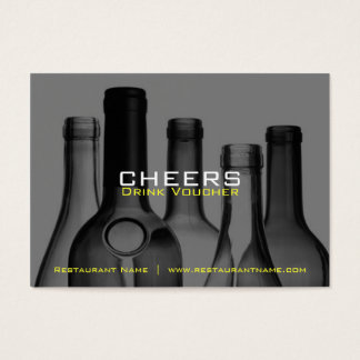 Vales y cupones de la bebida de la barra y del tarjetas de visita grandes