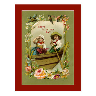 Valetine Boat Ride Postcard