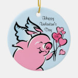 Valetine Pig Personalized Ornament