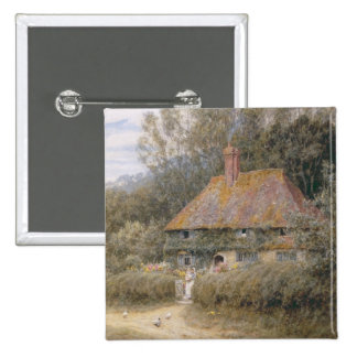 Valewood Farm under Blackwood, Surrey 2 Inch Square Button