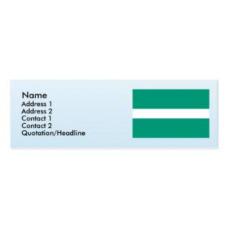 Valga, Estonia Mini Business Card