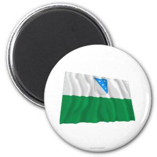 Valga Waving Flag 2 Inch Round Magnet