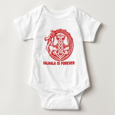 scorpionagency Valhalla Is Forever - Viking Pride Baby Bodysuit