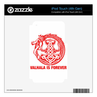 Valhalla Is Forever - Viking Pride Decals For iPod Touch 4G