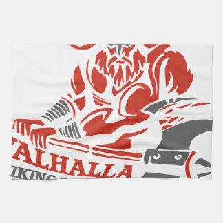 Valhalla - orgullo de Viking - diseño del hacha de Toallas
