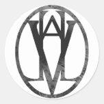 Valhalla Seal Black Classic Round Sticker