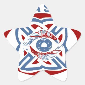 Valhalla Sees All - Viking Eye Star Sticker